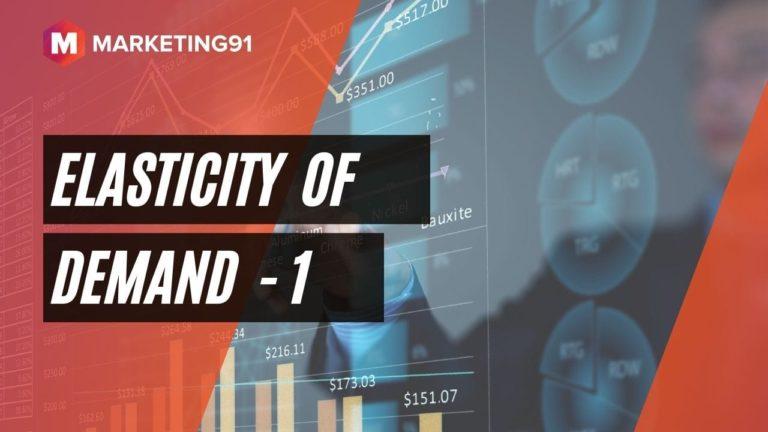 Elasticity of Demand - 1