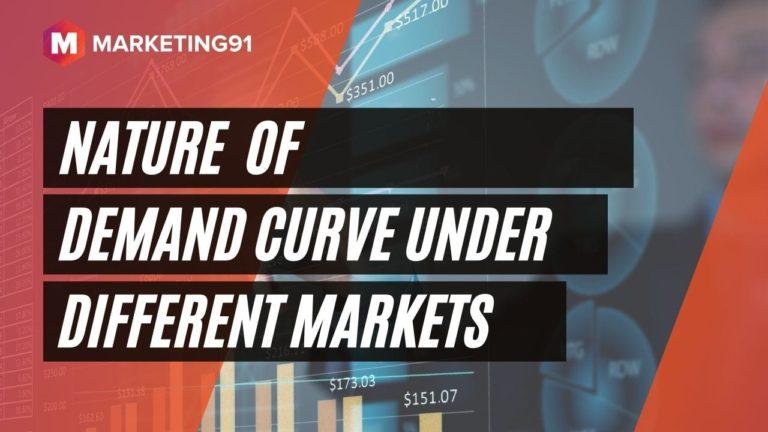 Nature of Demand Curve Under Different Markets