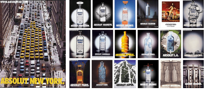 Example – Absolut Vodka (Print Ads)