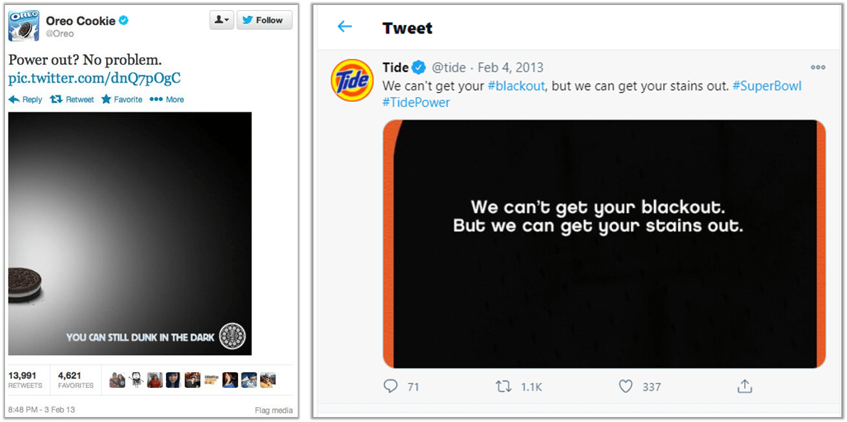 In the Moment Marketing [Oreo & Tide]