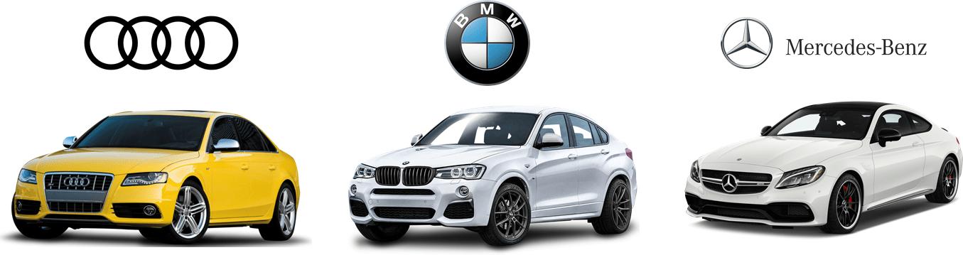 BMW, Mercedes & Audi