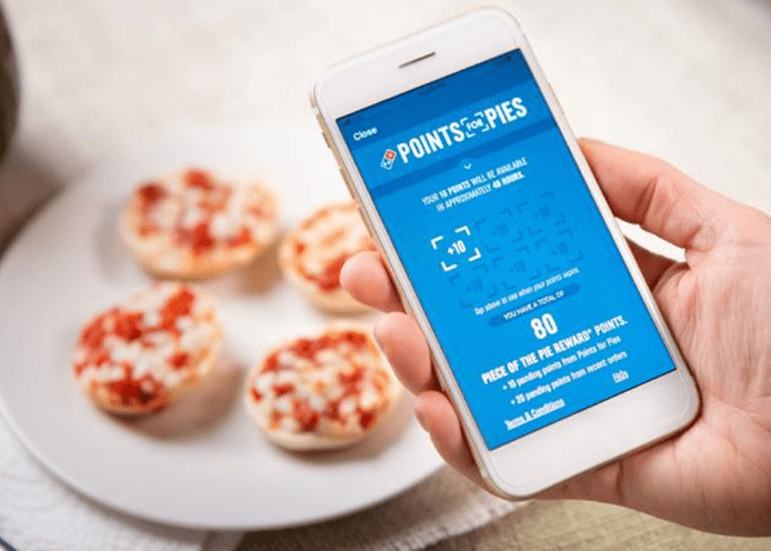 Domino's loyalty program - 'Points for Pies'