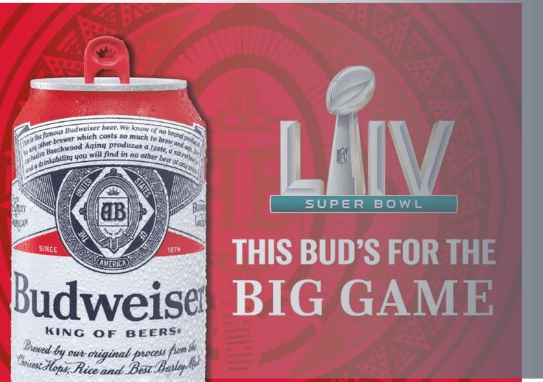Example – Budweiser spends big on Super Bowl