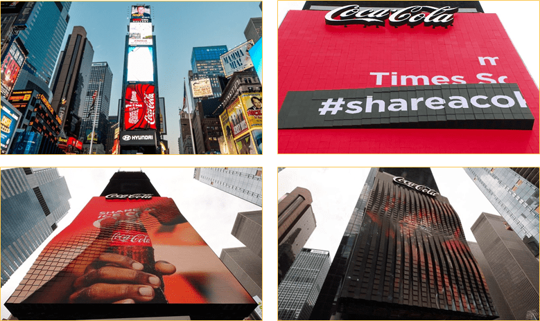 Example – Coca-Cola Used 1,760 LED Screens to Make This Ad