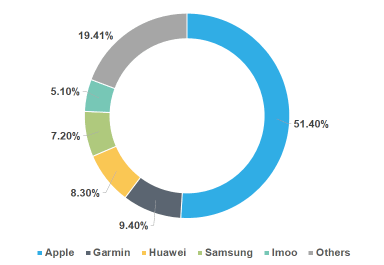 Examples of Market Share – Smartwatch Market