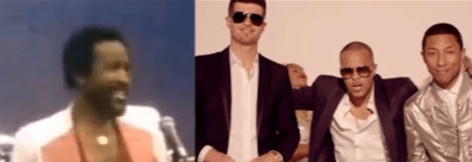 Robin Thicke and Pharrell Williamsvs. Marvin Gaye