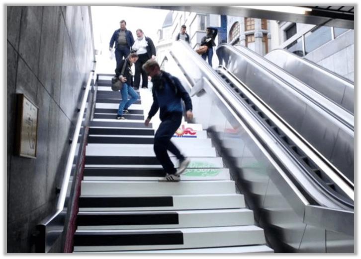 Volkswagen Piano Staircase